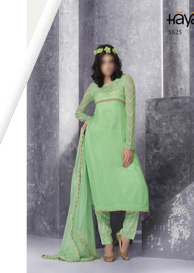 lime Green Haya chiffon collection - Memsaab Online