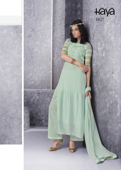 mint Haya chiffon collection - Memsaab Online