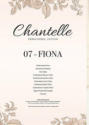 07 FIONA- Lilac - CHANTELLE - Baroque Embroidered Chiffon Fancy Pakistani Designer Suit - Memsaab Online