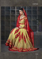 07 M11001 Mahek Yellow Indian Pakistani Dress - Memsaab Online