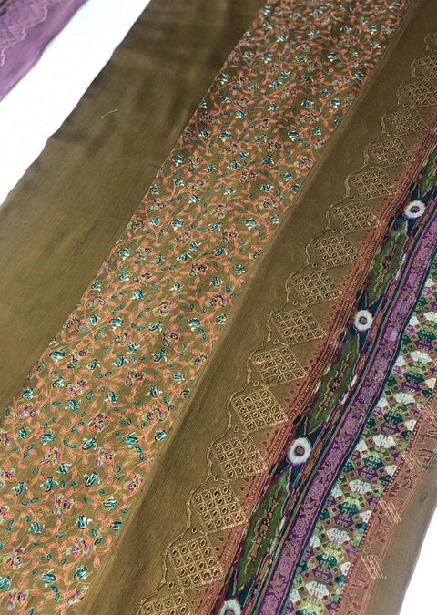Prime - Mendhi Green - Linen Suit by Javed Arts - Memsaab Online