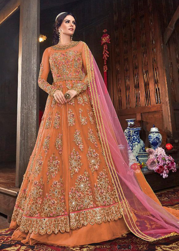 C - Unstitched - Indian Ethnic indo Western style Dress - Memsaab Online