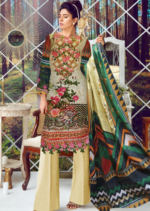 Rania Rameen Unstitched Embroidered Linen Collection Vol 10 - Pakistani Designerwear - Memsaab Online
