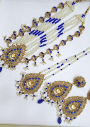 Ruhi -Royal Blue- Necklace Set - Memsaab Online