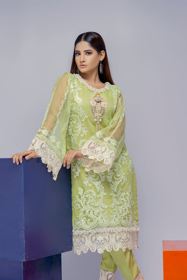 Sanam - Green - Eternal by Memsaab - Ready to Wear Pakistani Designer Suit with handwork - Memsaab Online