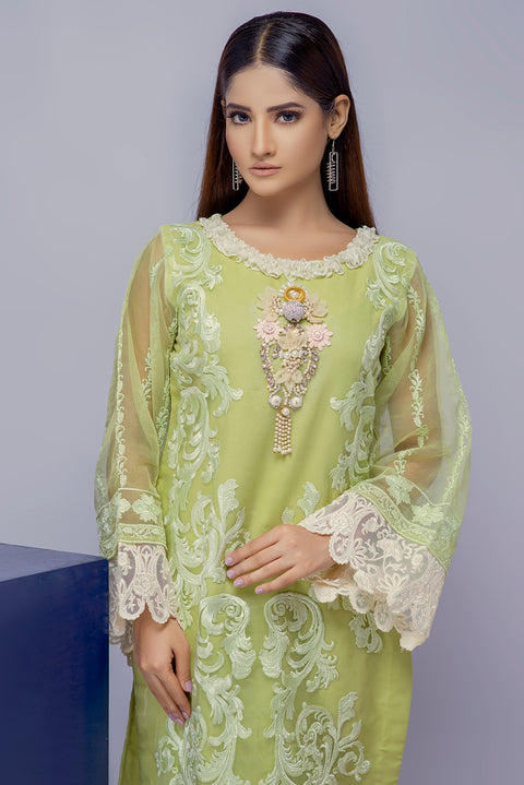 D4 - Sanam - Green - Eternal by Memsaab - Ready to Wear Pakistani Designer Suit with handwork - Memsaab Online