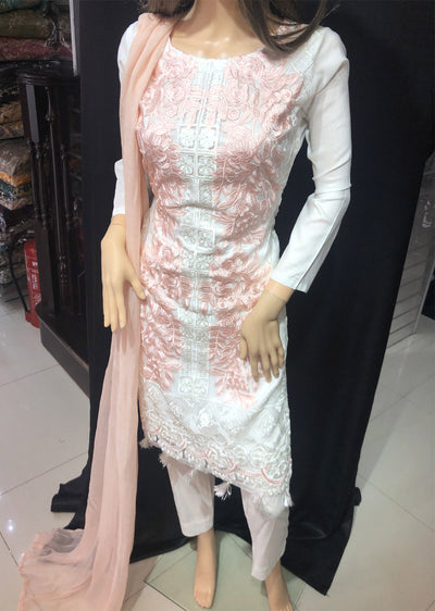 SD08 Readymade Tissue Organza Embroidered Suit - Memsaab Online