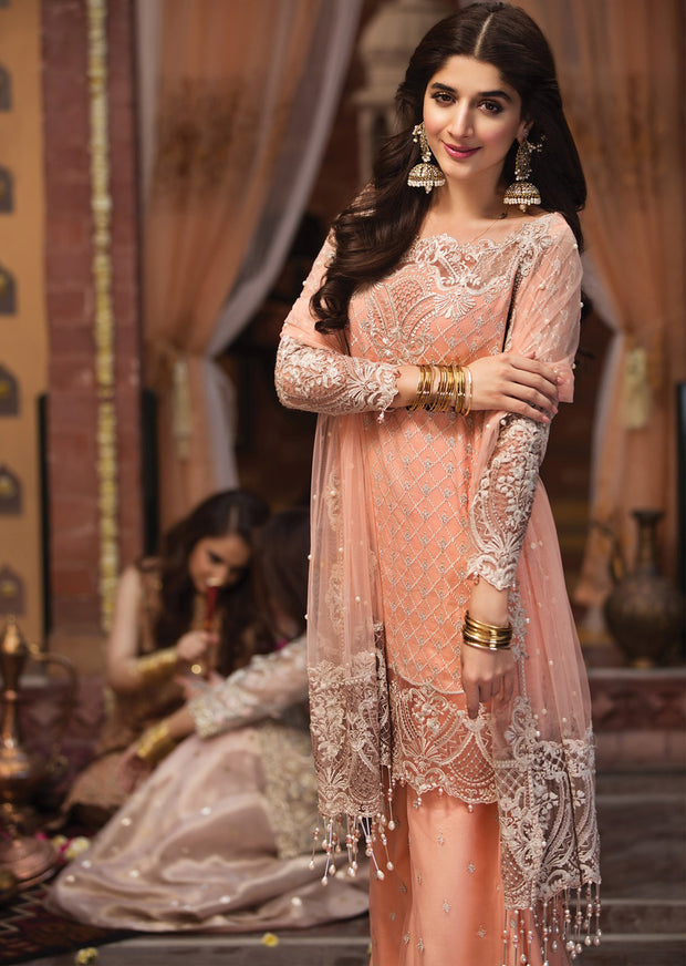 Shehrazade - Anaya by Kiran Chaudhry - Festive Collection 2019 - Unstitched Pakistan Designer Embroidered Lawn Original Suit - Memsaab Online