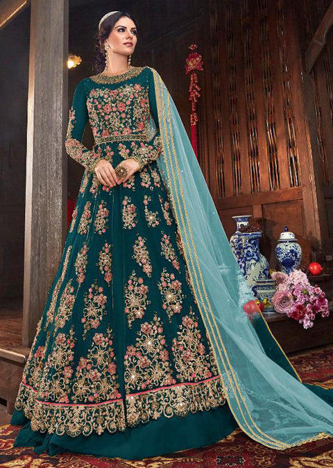 D - Unstitched - Indian Ethnic indo Western style Dress - Memsaab Online