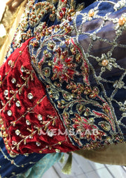 READYMADE - Maria B INSPIRED Suit with Handwork - Pakistani Designer Suit - Memsaab Online