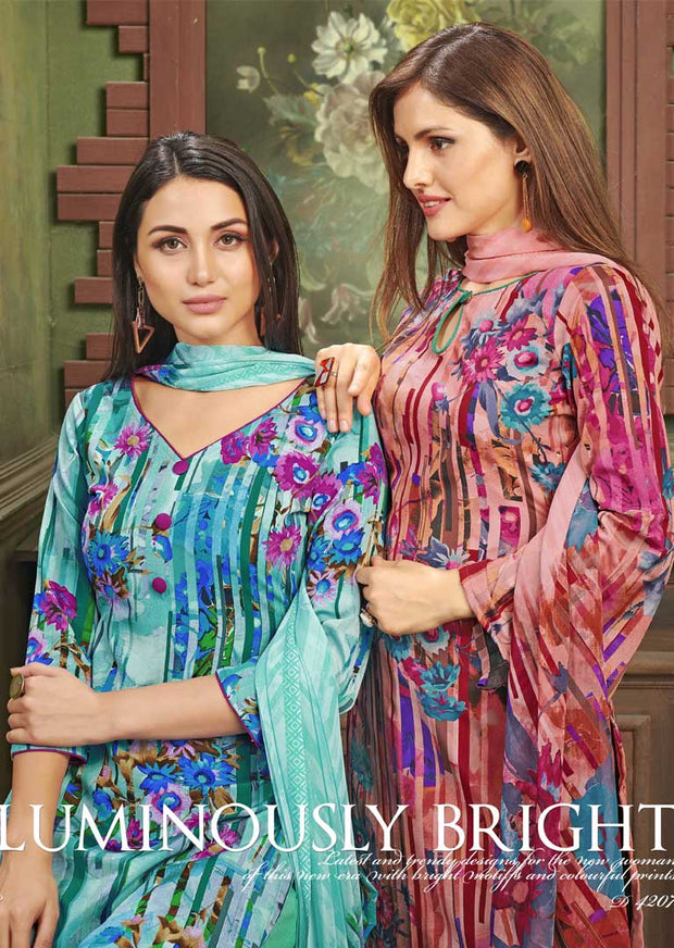 4207 Unstitched Vaishali Crepe Collection 2019 - B C - Memsaab Online