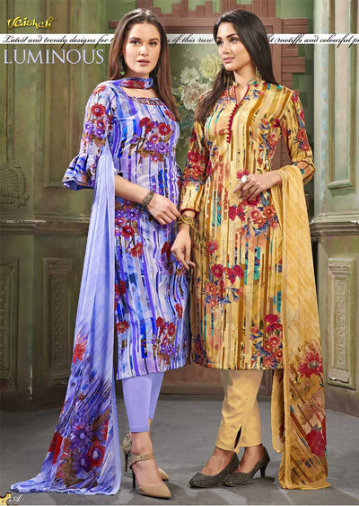 4207 Unstitched Vaishali Crepe Collection 2019 - A-B - Memsaab Online