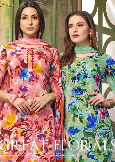 4210 Unstitched Vaishali Crepe Collection 2019 - B C - Memsaab Online