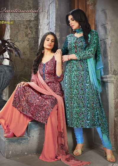 4218 Unstitched Vaishali Crepe Collection 2019 - A B - Memsaab Online
