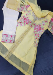 BLG704 Readymade Yellow Kids Suit - Memsaab Online