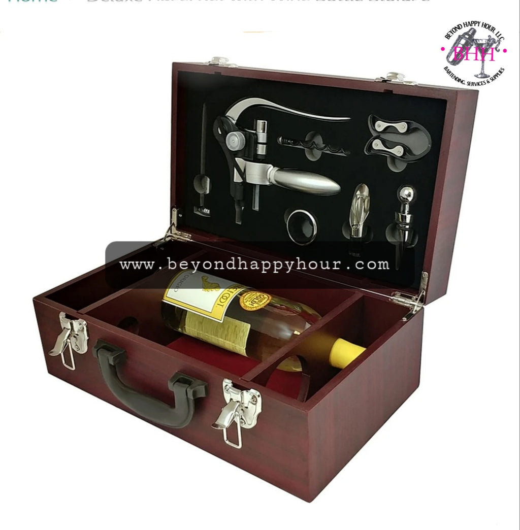 Deluxe Wine Opener Set And Storage