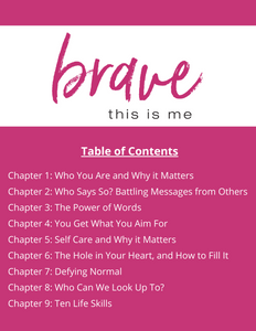 Brave: This is Me Journal