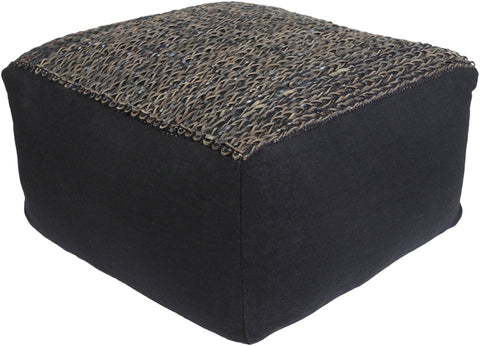 leather pouf, Poufs, Aija Pouf, Petunia Home