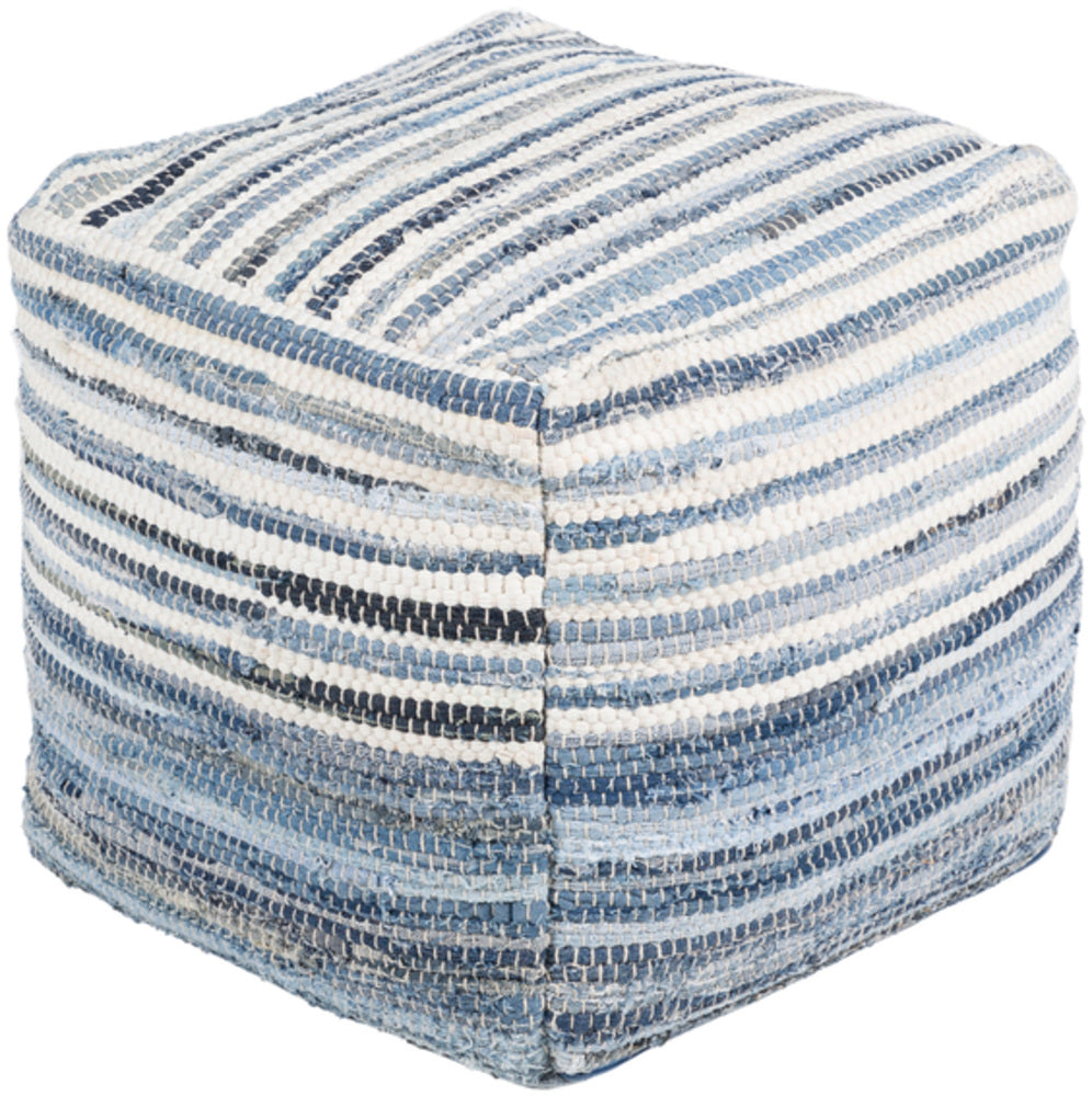 leather pouf, Poufs,Denim Pouf, Petunia Home, Surya pouf, Petunia