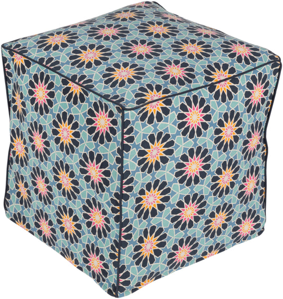 leather pouf, Poufs,Francesco  Pouf, Petunia Home, Surya pouf, Petunia