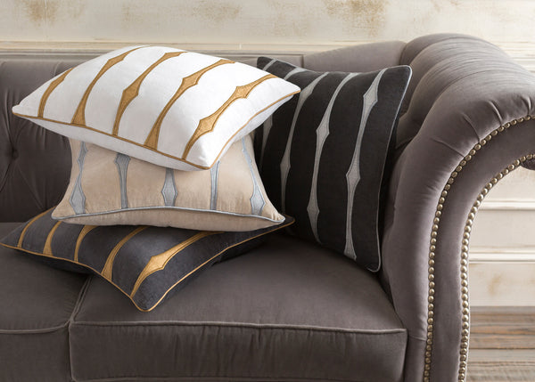 Graphic Stripe  Throw Pillow