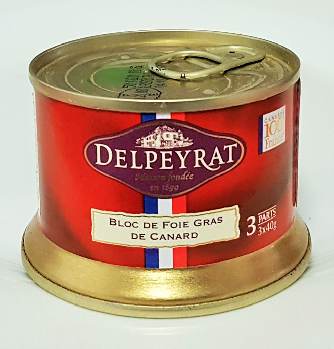 Bloc of duck foie gras 120g Delpeyrat French Yummies