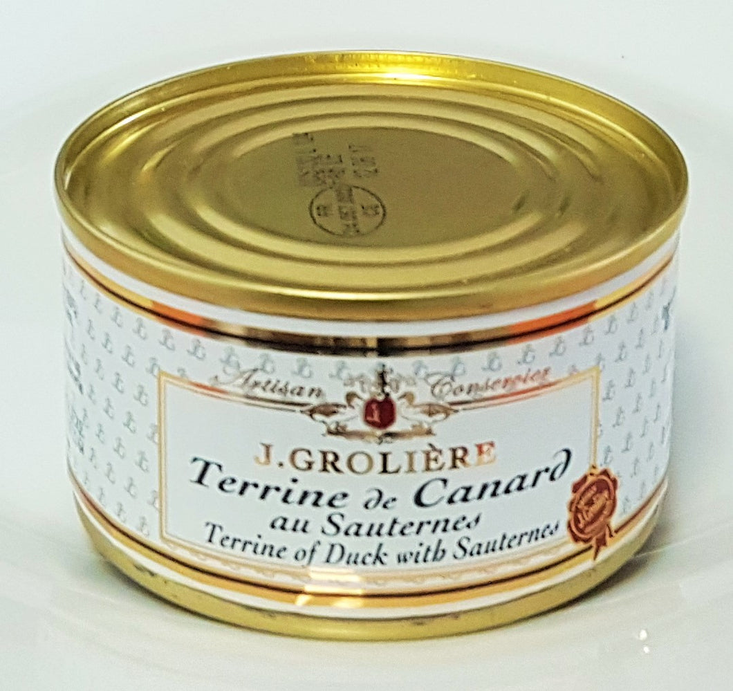 French Yummies Duck terrine with Sauterne 130g J.Groliere