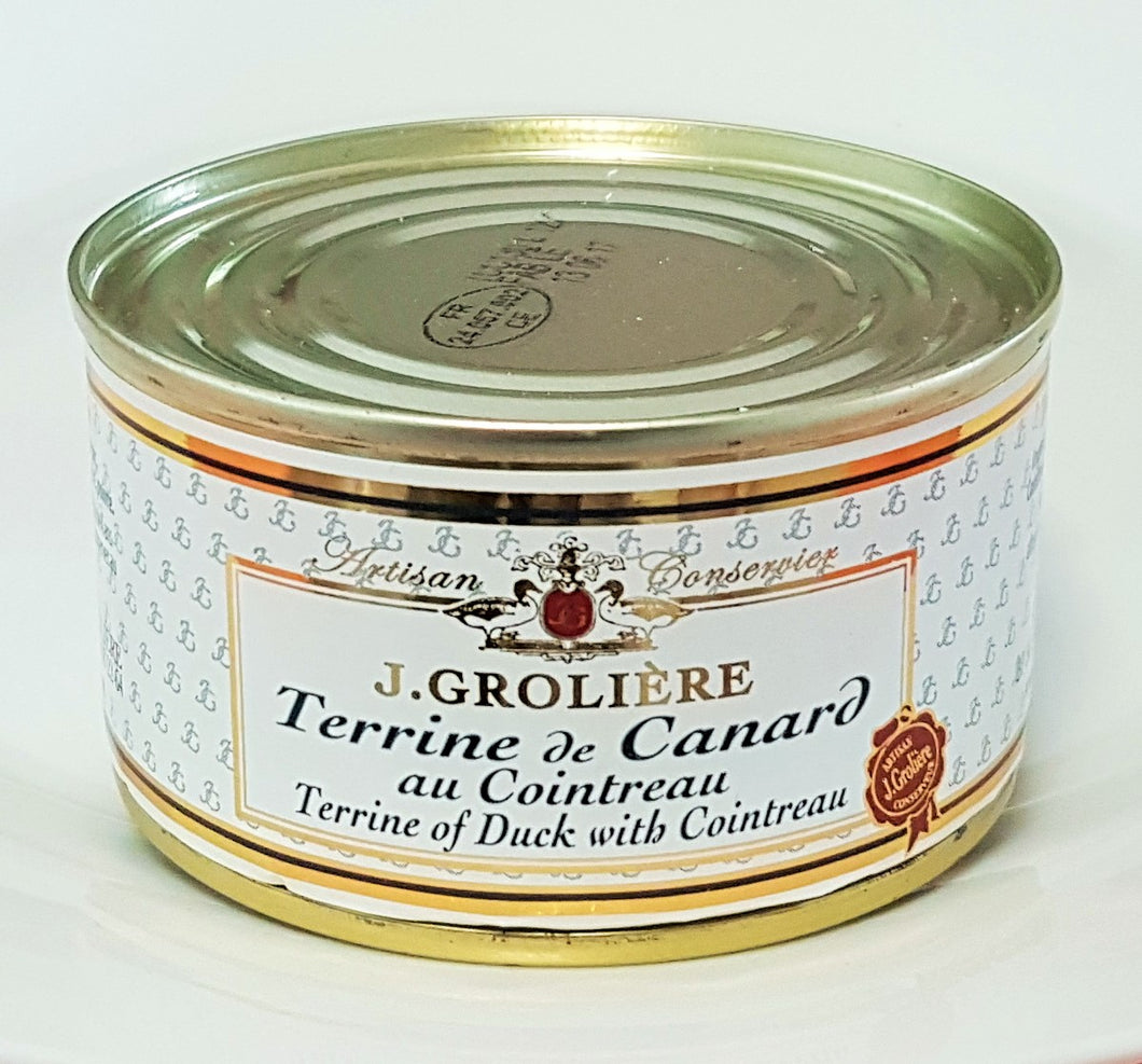 French Yummies Duck terrine with Cointreau 130g J.Groliere