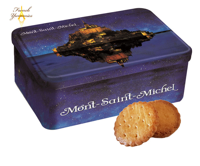French assorted biscuits in tin box