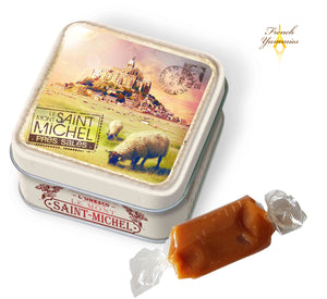 Mt St Michel landscape tin box with Calvados caramels