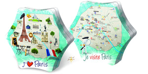 Paris map tin box with butter biscuits 280g French Yummies