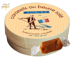 french caramel in wooden box