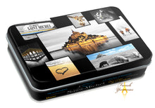 Load image into Gallery viewer, French Yummies Tin box Mont Saint Michel Pictures with caramel candies 55g
