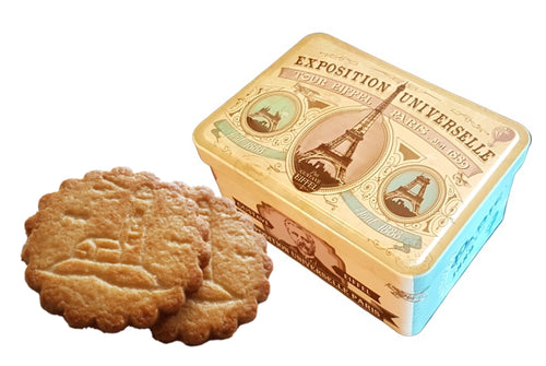 Paris 1889 tin box with butter biscuits 130g