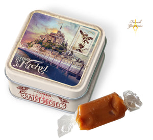 tin box with french caramels