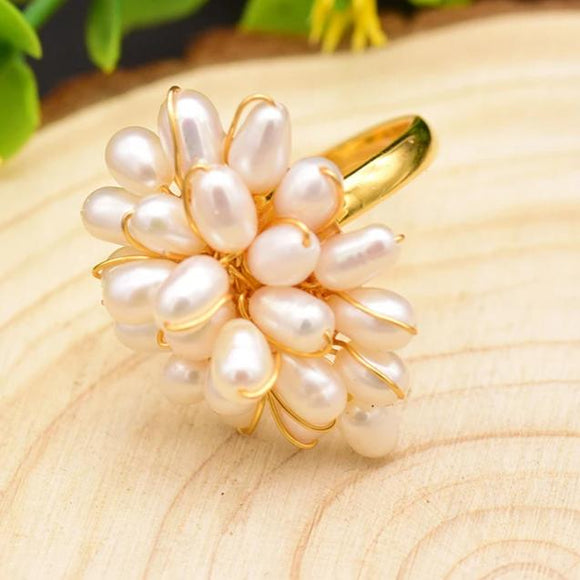 Chaplet Pearl Ring