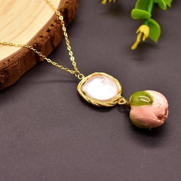 Floweret Pearl Necklace