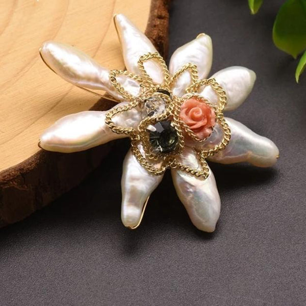 Luminary Pearl Brooch