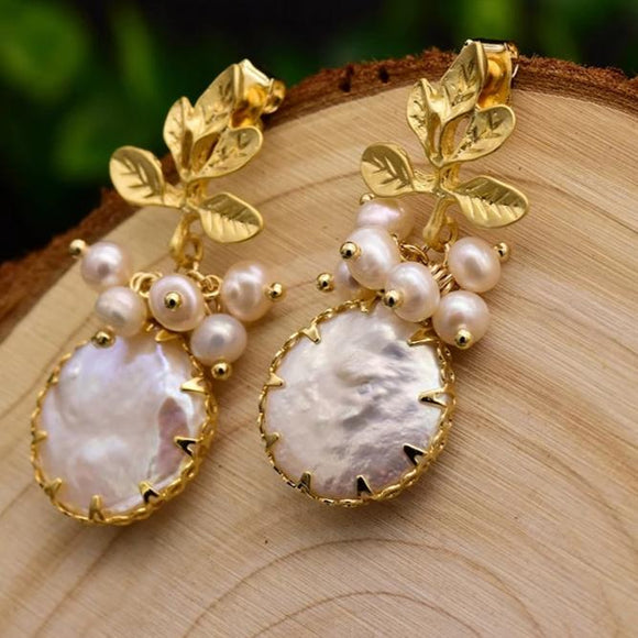 Sprout Pearl Earrings