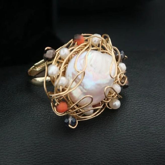 Vintage Big Pearl Ring