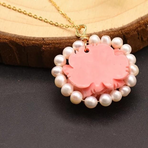 Cherry Pearl Necklace