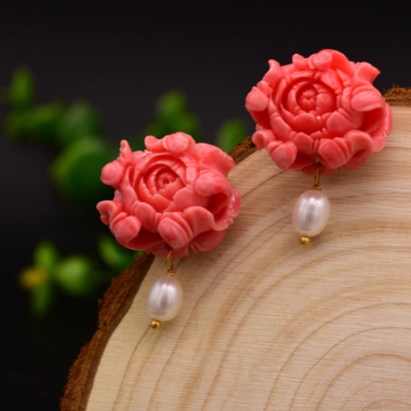 Coral Pink Earrings