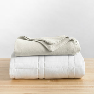 Linen Duvet Cover · King Weighted Blanket Fit