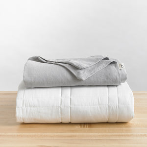 Linen Duvet Cover · Full/Queen Weighted Comforter Fit (90x90 in.)