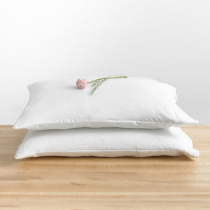 Standard French Linen Pillowcase Set