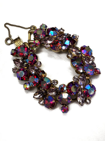 Juliana Two-tone Pink Rhinestone Bracelet