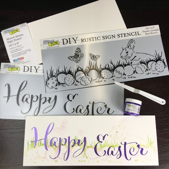 Happy Easter & Bunny Sign Kit
