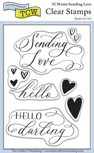 TCW2201 Sending Love 4x6 Clear Stamps