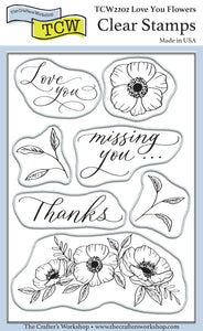 TCW2202 Love You 4x6 Clear Stamps