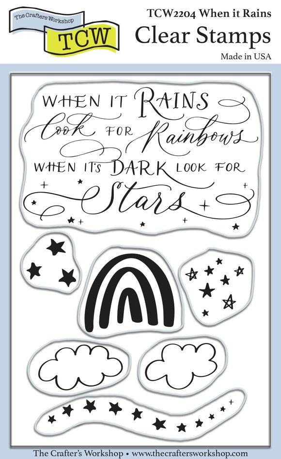 TCW2204 When it Rains 4x6 Clear Stamps